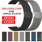 Metal Steel Milanese Mesh Loop Magnetic iwatch Band fr Apple Watch 38/40/42/44mm image