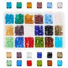 Wholesale 4x4/6x6mm Square Loose Faceted Crystal Beads Jewelry Making