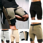 Men Work Shorts Stretch Sports Half Pants Casual Plain Solid Color Cargo New