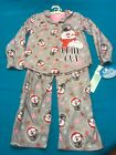 "New Girls Frosty the Snowman Gray ""Chill Out"" 2 piece pajama set Kids S M L"