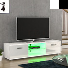Cosmo LED TV Unit 2 Door Matte Gloss MDF Entertainment Living Room Furniture