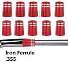 Golf .355 Iron Ferrules With Silver Trim Ring for Taper Tip Iron Wedge