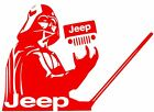 JEEP DECAL LARGE DARTH VADER Car Truck Vinyl Sticker JEEP WRANGLER ( 10 COLORS )