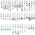 BodyJ4You 5PCS Belly Button Rings Set 14G Steel CZ Navel Body Piercing Jewelry image