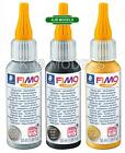 FIMO 50ml Liquid Deco Gel Oven Hardening For Polymer Clay- Gold, Silver Or Black
