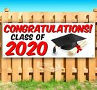 CONGRATULATIONS! CLASS OF 2020 Advertising Vinyl Banner Flag Sign Many Sizes