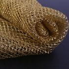 Gold Metallic Net Sparkle Glitter Skirt Mesh Tulle Fabric Crafts Dress Per Yard