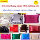 1pc 40mm Both Face 100% Mulberry Silk Pillow Case Pillow Cover End Envelope Open