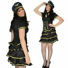 Womens fancy dress sexy party airline pilot girl stewardess Size XL, 12-14