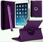 LEATHER 360 DEGREE ROTATING CASE COVER FOR I PAD 2,3,4 IN VARIOUS COLORS