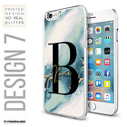 PERSONALISED BIG INITIALS PHONE CASE MARBLE HARD COVER APPLE IPHONE 7 8 PLUS XS