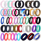 Medical Grade Silicone Wedding Ring Men Women Flexible Rubber Engagement Band