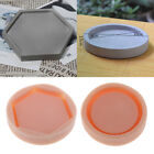 Silicone Concrete Plant Flower Pot Tray Holder Mold DIY Soap Candle Mould image