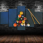 Framed 5 Billiards Pool Table Balls Cue Game Painting Canvas Wall Art Home Decor $149.97 USD on eBay