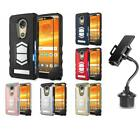 Motorola Moto E5 Plus Magnetic Vent Mount Case With Tempered Glass + Cup Mount