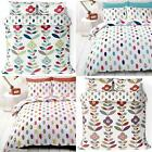 Floral Duvet Covers Lulu Reversible Scandi Retro Flowers Quilt Cover Bedding Set image