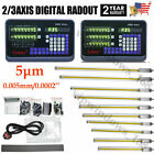 2 3Axis Digital Readout DRO Glass Linear Scale 5m Milling Lathe Precision US
