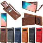 Leather Wallet Case Card Slot Flip Cover For Iphone 7 8 X Samsung S10 S9 Note 9