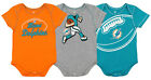Outerstuff NFL Infant Miami Dolphins 3 Pack Creeper Set on eBay