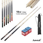 58' 2-Piece Composite Billiard Pool Snooker Cues Stick Set 18oz