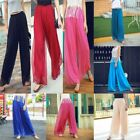 Palazzo maxi wide leg trousers harem casual pants chiffon loose Women flared