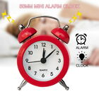 Portable Retro Mini Alarm Clock Twin Bell Round Number Table Desk Bed LED Clock