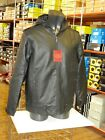 Mens Faux Leather Hooded Full Zip Jacket