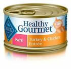 Blue Buffalo Healthy Gourmet Natural Adult Pate Wet Cat Food New