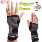Sports Wrist Band Brace Hand Wrap Copper Support Gym Strap Carpal Tunnel Bandage $7.69 USD on eBay