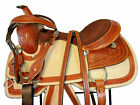 16 15 BLING SHOW TRAIL HORSE PLEASURE FLORAL TOOLED LEATHER WESTERN SADDLE TACK