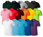 Mens Stylish Vivid Daily 16 Colors Polo Pique Collar Casual T-Shirts W300 XS-2XL