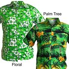 M HAWAIIAN SHIRTS Bright Medium Floral/Palm Tree Aloha Beach Summer Party Stag