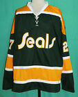 GILLES MELOCHE 27 CALIFORNIA GOLDEN SEALS RETRO HOCKEY JERSEY NEW SEWN ANY SIZE
