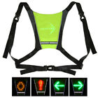 Riding Backpack Vest with LED Wireless Safety Turn Signal Light Warning Lights