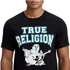 True Religion Men's Two-Tone Buddha Graphic Tee T-Shirt in Black image
