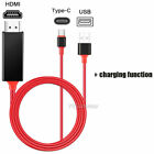 USB Type C to HDMI HDTV TV Cable Adapter For Samsung S8 S9 S10 Note 20 S21+ S10e