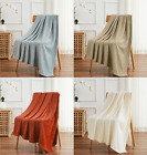 Ultra Soft & Plush Herringbone Fleece Throw Blanket Covers - Assorted Colors image