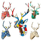 3d Wall Sculpture Deer Head Home Decoration Art Accessories Stag Statue Antelope