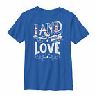 Lost Gods Fourth of July America Love Land Boys Graphic T Shirt