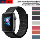 40mm/44mm Woven Nylon Sport Loop Band Strap for iWatch Apple Watch Series 4 US image