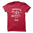 POWERLIFTERS ARE BORN IN APRIL Gym Rabbit T Shirt Workout Gym Fitness D843