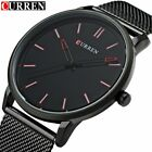 Curren 8233 Mens Watches Top Brand Luxury Black Mesh Strap Quartz Watch Men Casu image