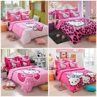 New Hello Kitty Bedding Sets 4pc kids duvet cover bed sheet twin full queen size image