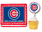 Chicago Cubs Edible Birthday Party Cake Topper Plastic Cupcake Picks on Ebay
