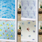 Waterproof Glass Frosted BathroomArt DIY Wall Sticker Adhesive Hang Stickers US