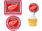 Detroit Red Wings Edible Birthday Party Cake Topper Cupcake Plastic Picks $19.0 USD on eBay