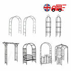 Metal Garden Arch Heavy Duty Strong Archway Plants Rose Climbing Outdoor Patio