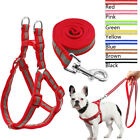 Nylon Step In Dog Harness and Leash Adjustable Reflective for Pet Puppy Yorkie