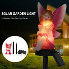 Solar Powered LED Garden Fairy Light Pixie Wings Statue Outdoor Ornament Lamp