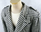 VINTAGE 1980s Houndstooth Blazer black white checker jacket suit pant set